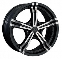 OZ Power R17x7J 4x108 ET25 DIA75 Matt Black + Diamond Cut