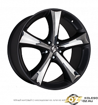 Eta Beta Tettsut X R18x8J 5x112 ET25 DIA66.55 Black Shiny Polish