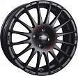 OZ Superturismo GT R17x7J 5x114.3 ET49 DIA75 Matt Black + Red Lettering - matt black + red lettering
