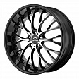 Lorenzo WL27 R19x9.5J 5x114.3 ET32 DIA72.6 Black/Machined - black/machined