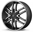 KMC KM678 R22x9.5J 6x139.7 ET38 DIA106.2 Black/Machined - black/machined