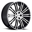 Redbourne Manor R20x9.5J 5x120 ET32 DIA72 Gloss Black - matte black machine face