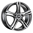 OZ X5B R17x7.5J 5x120 ET47 DIA79 Matt Graphite Diamond Cut - matt graphite diamond cut