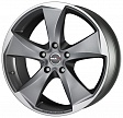 MAK Raptor5 R19x9.5J 5x120 ET20 DIA72.6 Graphite Mirror Face - graphite mirror face