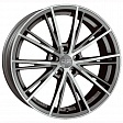 OZ Envy R17x7.5J 5x108 ET45 DIA75 Matt Silver Tech Diamond Cut - silver tech
