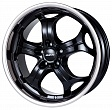 Alutec Boost R20x10.5J 5x112 ET55 DIA66.6 Diamant black with stainless steel lip - diamant black with stainless steel lip