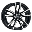 MAK Milano R16x6.5J 5x112 ET45 DIA76.1 Black Red Face - black mirror