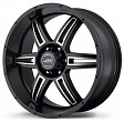 American Racing AR890 R17x8J 5x139.7 ET0 DIA108 Black/Machined - black/machined