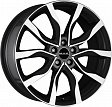 MAK Highlands R20x8.5J 5x108 ET45 DIA63.3 Silver - black mirror