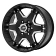 American Racing AR392 R18x8.5J 6x139.7 ET30 DIA78.1 Black/Machined - black/machined