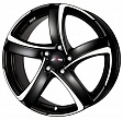 Alutec Shark R18x8J 5x115 ET45 DIA70.2 Racing black front polished - racing black polished