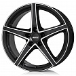 Alutec Raptr R17x7.5J 5x100 ET40 DIA63.3 Schwarz Matt - racing black front polished