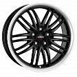 Alutec BlackSun R17x8J 5x115 ET40 DIA70.2 Racing Black Lip Polished - racing schwarz doppel hornpoliert