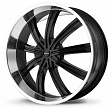 KMC KM672 R20x8.5J 5x114.3 ET38 DIA72.56 Black/Machined - black/machined