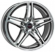 Borbet XRT R19x8.5J 5x112 ET35 DIA72.5 Red Front Polished - graphite polished