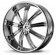 KMC KM672 R20x8.5J 5x114.3 ET38 DIA72.56 Black/Machined - chrome