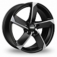 Fondmetal 7900 R20x9J 5x120 ET52 DIA72.5 Matt Black Polished - mat black polished