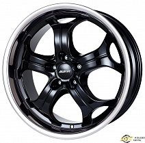 Alutec Boost R20x10.5J 5x112 ET55 DIA66.6 Diamant black with stainless steel lip