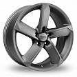 Fondmetal 7900 R20x9J 5x120 ET52 DIA72.5 Matt Black Polished - matek silver