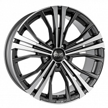 OZ Cortina R19x9J 5x120 ET45 DIA65.1 Matt Dark Graphite Diamond Cut