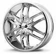 KMC KM678 R22x9.5J 6x139.7 ET38 DIA106.2 Black/Machined - chrome
