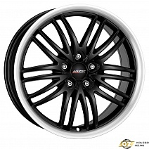 Alutec BlackSun R17x8J 5x115 ET40 DIA70.2 Racing Black Lip Polished