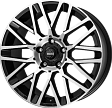 MOMO REVENGE R17x7J 4x100 ET42 DIA67.1 Matt Black-Polished - matt black-polished